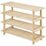FUNIKA 4 Tier Shoe Rack [33005] - Steam Beech - Rak Sepatu